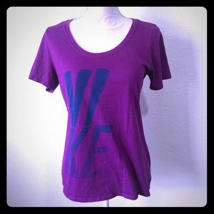***Nike Purple Scoop Neck T-shirt Top Size Large